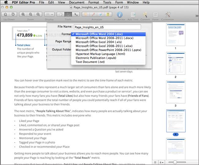 Pro for pdf editor mac wondershare
